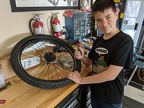 Anthony's first bike tire